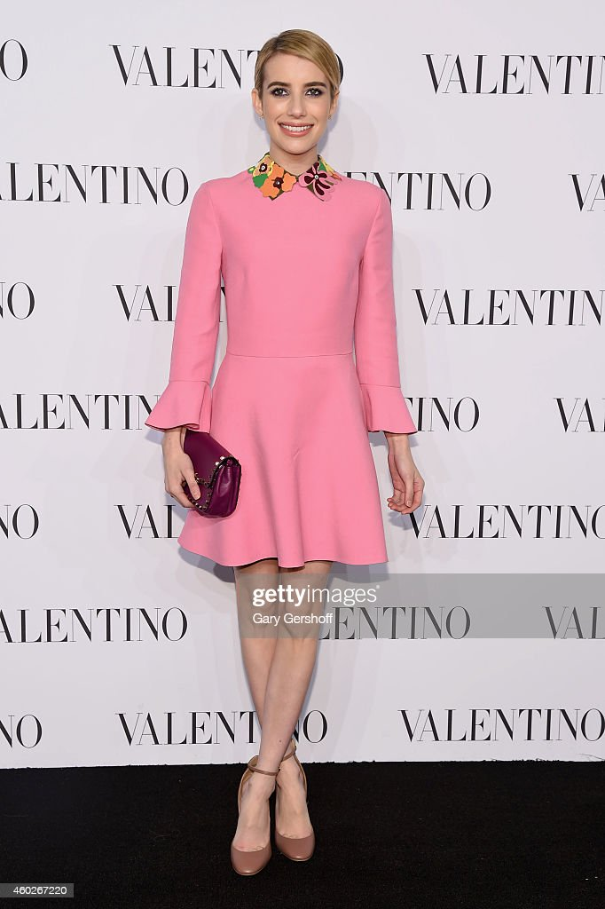 Actress Emma Roberts attends the Valentino Sala Bianca 945 Event on December 10, 2014 in New York City.
