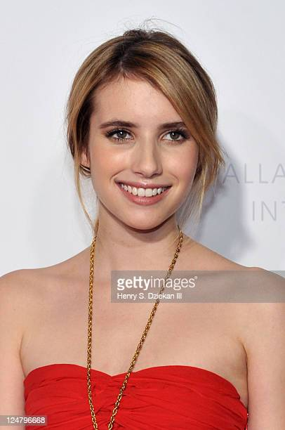 Actress Emma Roberts attends The Weinstein Company The Cinema Society With QVC Palladium premiere of I Don't Know How She Does It at AMC Loews...