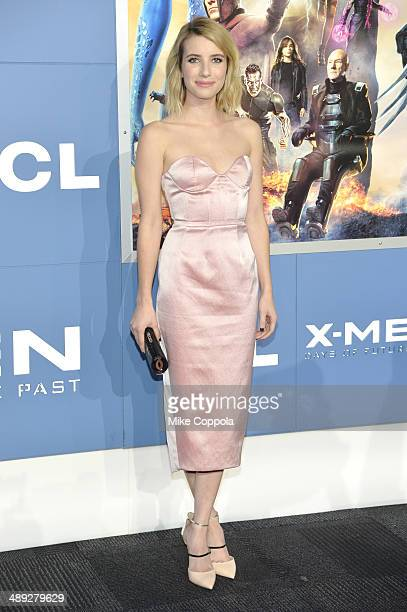 Actress Emma Roberts attends the XMen Days Of Future Past world premiere at Jacob Javits Center on May 10 2014 in New York City
