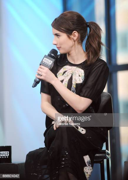 Actress Emma Roberts hair detail attends Build Series to discuss 'The Blackcoat's Daughter' at Build Studio on March 23 2017 in New York City