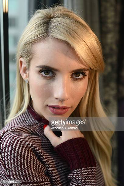 Actress Emma Roberts is photographed for New York Times on October 24 2015 in New York City