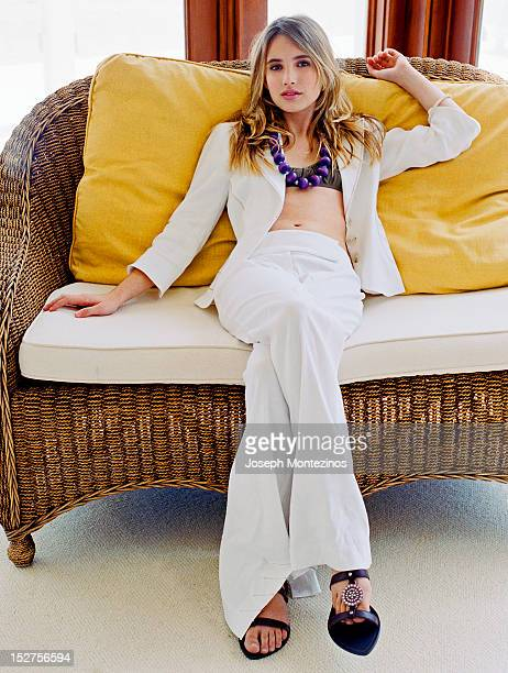 Actress Emma Roberts is photographed for You Magazine on June 29 2005 in Los Angeles California