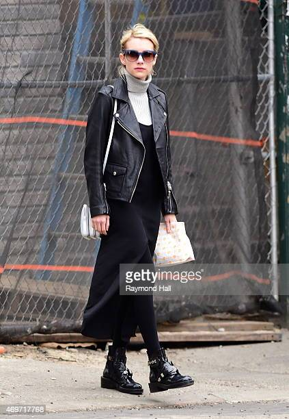 Actress Emma Roberts is seen coming out of Dominique Ansel Bakery in Soho on April 14 2015 in New York City