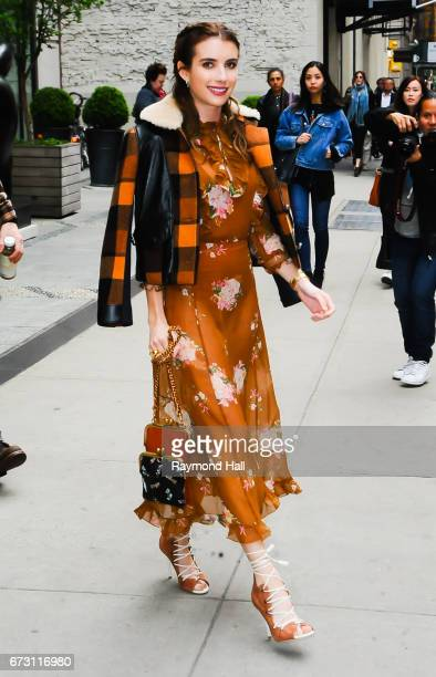 Actress Emma Roberts is seen walking in Soho on April 25 2017 in New York City