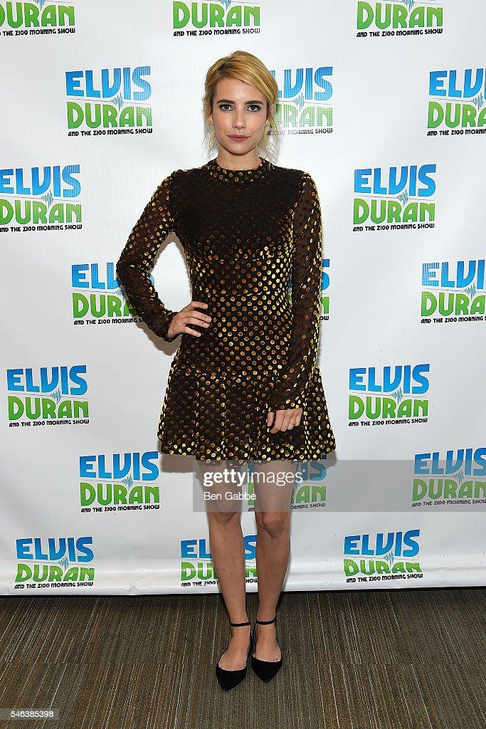 "Emma Roberts Visits ""The Elvis Duran Z100 Morning Show"" : News Photo"