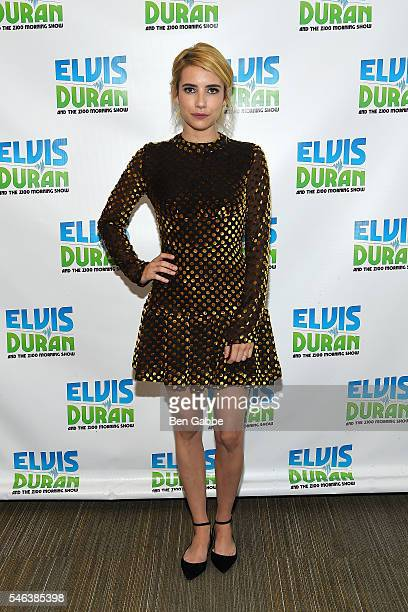 Actress Emma Roberts visits The Elvis Duran Z100 Morning Show at Z100 Studios on July 11 2016 in New York City