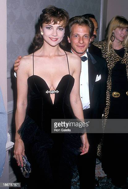 Actress Emma Samms and actor Jonathan Prince attend the 18th Annual Nosotros Golden Eagle Awards on May 13 1988 at the Beverly Hilton Hotel in...