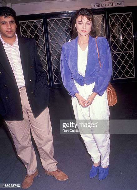 Actress Emma Samms and husband Bansi Nagji attend Love Letters Closing Night Play Performance on August 4 1991 at the Canon Theatre in Beverly Hills...