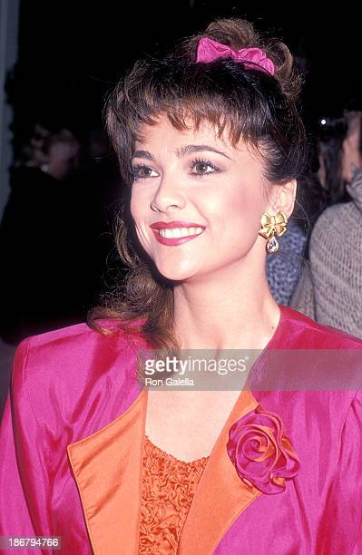 Actress Emma Samms attends 'Dynasty' Celebrates Its Ninth Season and the Airing of the 200th Episode Tonight on December 15 1988 at The Lot in West...