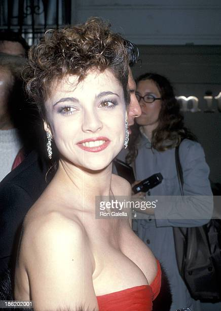 Actress Emma Samms attends the 12th Annual People's Choice Awards After Party Hosted by Aaron Spelling on March 11 1986 at L'Ermitage Hotel in...