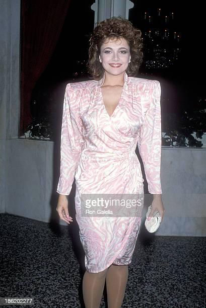 Actress Emma Samms attends 'The Colbys' Season One WrapUp Party on April 13 1986 at the Beverly Wilshire Hotel in Beverly Hills California