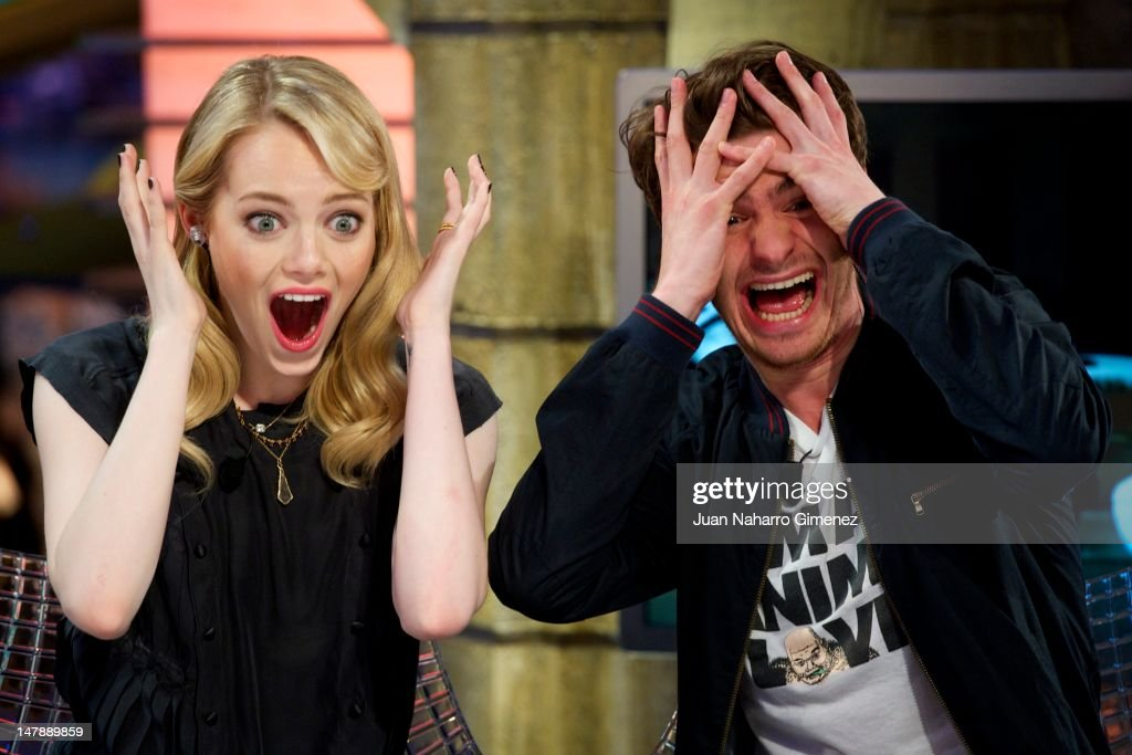 Andrew Garfield and Emma Stone Attend 'El Hormiguero' Tv Show : News Photo