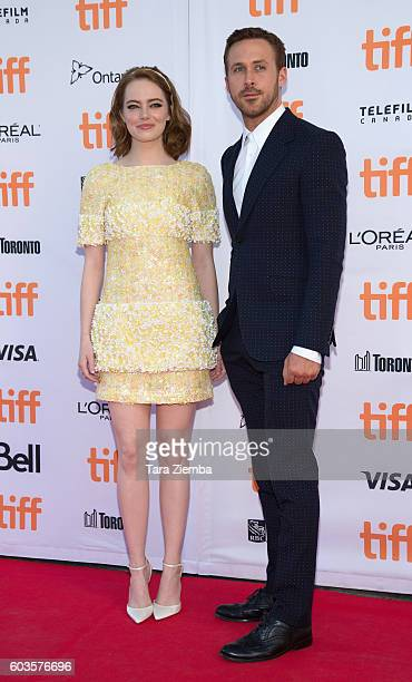 Actress Emma Stone and actor Ryan Gosling attend the premiere of 'La La Land' during the 2016 Toronto International Film Festival at Princess of...