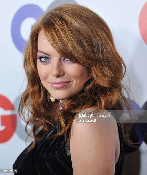 Actress Emma Stone arrives at the 14th Annual GQ Men of the Year Party at the Chateau Marmont on November 18 2009 in Los Angeles California