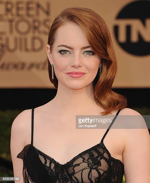 Actress Emma Stone arrives at the 23rd Annual Screen Actors Guild Awards at The Shrine Expo Hall on January 29 2017 in Los Angeles California