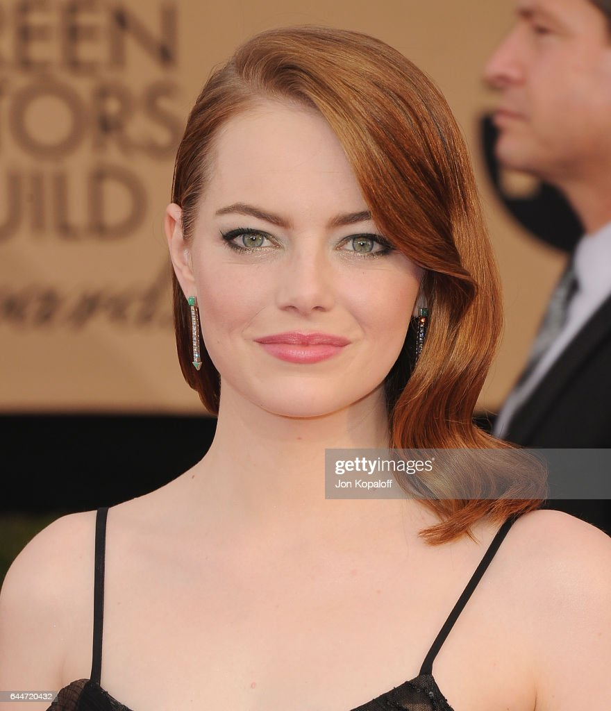 Actress Emma Stone arrives at the 23rd Annual Screen Actors Guild Awards at The Shrine Expo Hall on January 29, 2017 in Los Angeles, California.