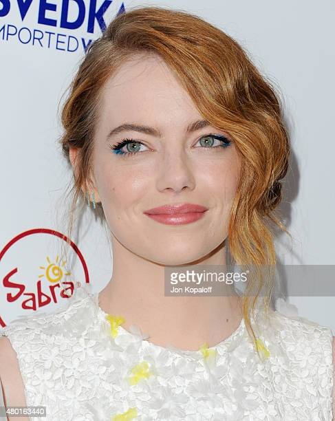 """Actress Emma Stone arrives at the Los Angeles Premiere """"Irrational Man"""" at Writers Guild Awards on July 9, 2015 in Los Angeles, California."""
