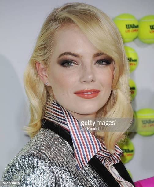 Actress Emma Stone arrives at the Premiere Of Fox Searchlight Pictures' 'Battle Of The Sexes' at Regency Village Theatre on September 16 2017 in...