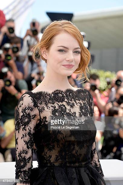 """Actress Emma Stone attends a photocall for """"Irrational Man"""" during the 68th annual Cannes Film Festival on May 15, 2015 in Cannes, France."""
