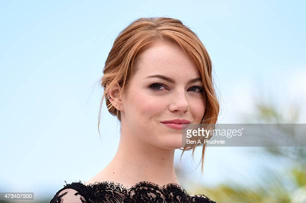 Actress Emma Stone attends a photocall for Irrational Man during the 68th annual Cannes Film Festival on May 15 2015 in Cannes France