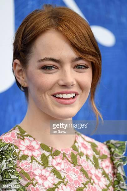 Actress Emma Stone attends a photocall for 'La La Land' during the 73rd Venice Film Festival at Palazzo del Casino on August 31 2016 in Venice Italy