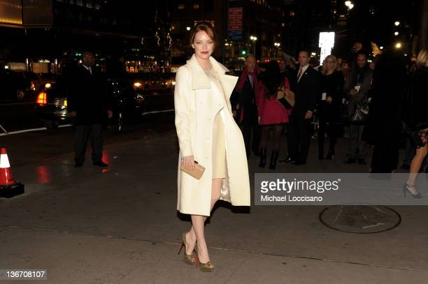 Actress Emma Stone attends the 2011 National Board of Review Awards gala at Cipriani 42nd Street on January 10 2012 in New York City