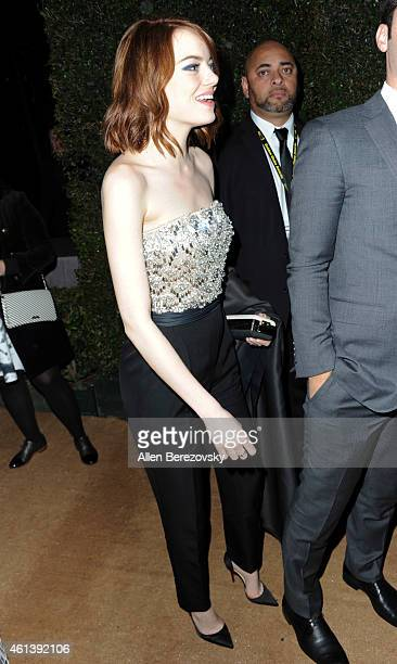 Actress Emma Stone attends the 2015 FOX Golden Globes Party at FOX Pavilion at the Golden Globes on January 11 2015 in Beverly Hills California