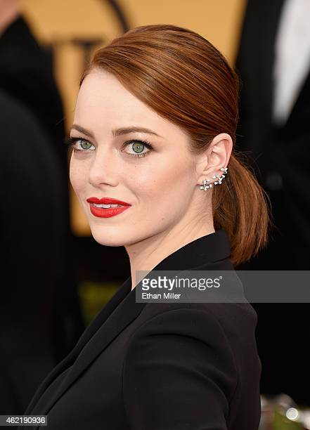 Actress Emma Stone attends the 21st Annual Screen Actors Guild Awards at The Shrine Auditorium on January 25 2015 in Los Angeles California