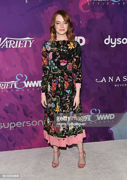Actress Emma Stone attends the 2nd Annual StyleMaker Awards hostd by Variety and WWD at Quixote Studios West Hollywood on November 17 2016 in West...