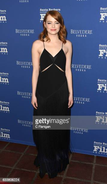 Actress Emma Stone attends the 32nd Santa Barbara International Film Festival 'Outstanding Performers Of The Year' award presentation at the...