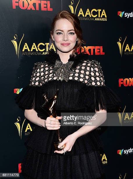 Actress Emma Stone attends the 6th Annual AACTA International Awards at Avalon Hollywood on January 6 2017 in Los Angeles California