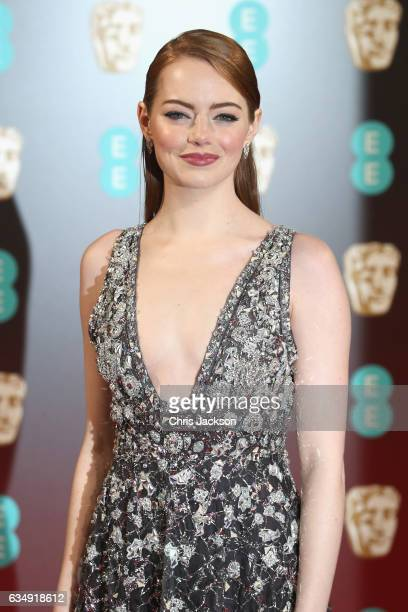 Actress Emma Stone attends the 70th EE British Academy Film Awards at Royal Albert Hall on February 12 2017 in London England