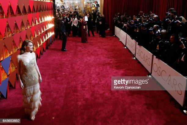 Actress Emma Stone attends the 89th Annual Academy Awards at Hollywood Highland Center on February 26 2017 in Hollywood California