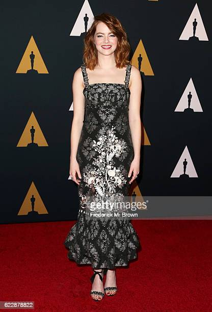 Actress Emma Stone attends the Academy of Motion Picture Arts and Sciences' 8th annual Governors Awards at The Ray Dolby Ballroom at Hollywood...