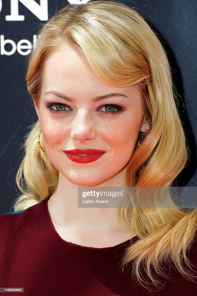 Actress Emma Stone attends 'The Amazing Spider-Man' photocall at Villamagna Hotel on June 21, 2012 in Madrid, Spain.