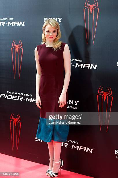 Actress Emma Stone attends 'The Amazing SpiderMan' photocall at Villamagna Hotel on June 21 2012 in Madrid Spain