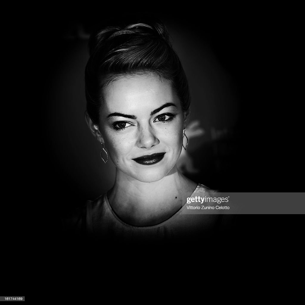 Actress Emma Stone attends 'The Croods' Photocall during the 63rd Berlinale International Film Festival at the Grand Hyatt Hotel on February 15, 2013 in Berlin, Germany.