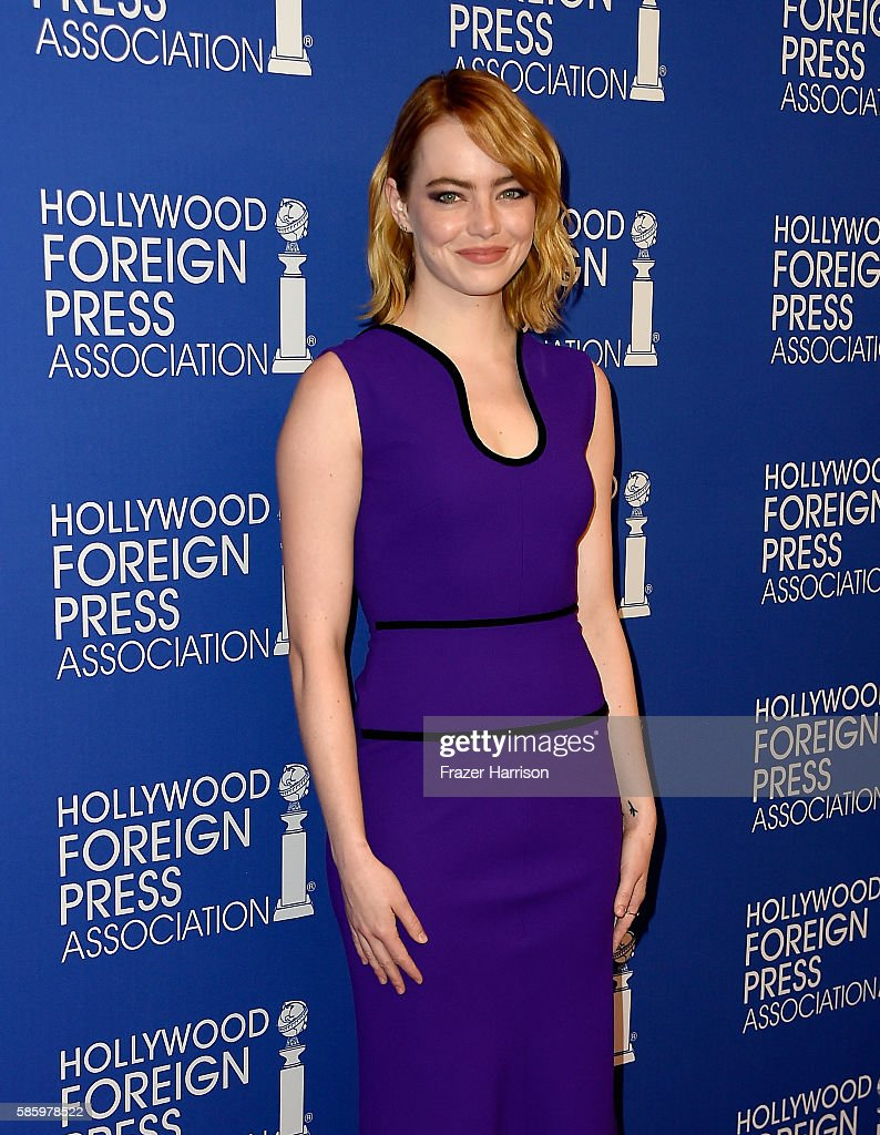 Actress Emma Stone attends the Hollywood Foreign Press Association's Grants Banquet at the Beverly Wilshire Four Seasons Hotel on August 4, 2016 in Beverly Hills, California.