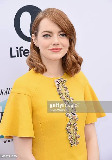 Actress Emma Stone attends The Hollywood Reporter's Annual Women in Entertainment Breakfast in Los Angeles at Milk Studios on December 7 2016 in...