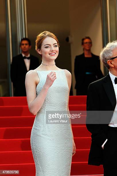"""Actress Emma Stone attends the """"Irrational Man"""" premiere during the 68th annual Cannes Film Festival on May 15, 2015 in Cannes, France."""