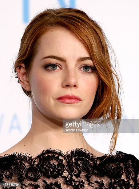 """Actress Emma Stone attends the """"Irrational Man"""" press Conference during the 68th annual Cannes Film Festival on May 15, 2015 in Cannes, France."""