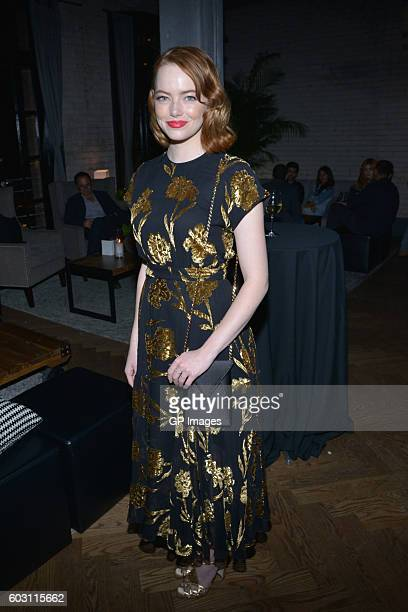 Actress Emma Stone attends the Katie Says Goodbye TIFF Party hosted by CIROC and Grolsch at Storys Building on September 11 2016 in Toronto Canada