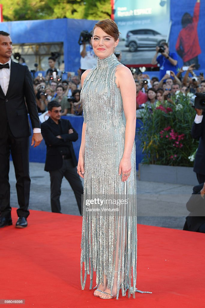 Actress Emma Stone attends the opening ceremony and premiere of 'La La Land' during the 73rd Venice Film Festival at Sala Grande on August 31, 2016 in Venice, Italy.