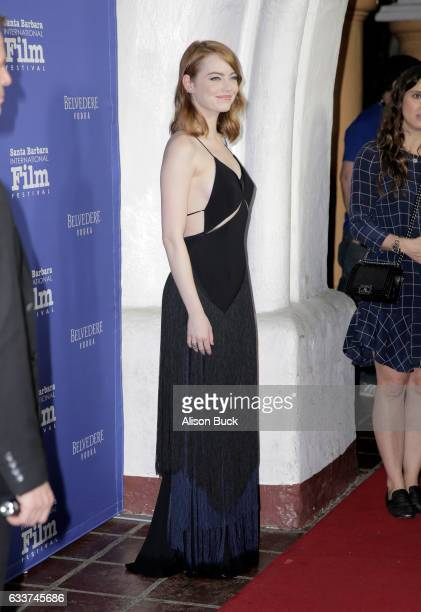 Actress Emma Stone attends the Outstanding Performers Tribute honoring Ryan Gosling and Emma Stone during the 32nd Santa Barbara International Film...