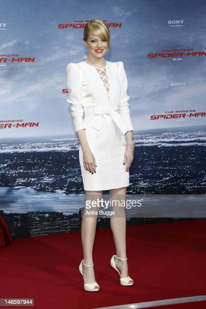 Actress Emma Stone attends the 'The Amazing SpiderMan' Germany Premiere at Sony Centre on June 20 2012 in Berlin Germany