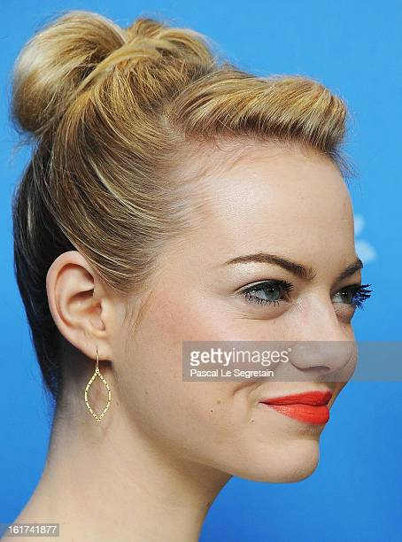 Actress Emma Stone attends the 'The Croods' Photocall during the 63rd Berlinale International Film Festival at Grand Hyatt Hotel on February 15 2013...