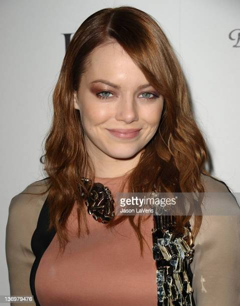 Actress Emma Stone attends the W Magazine Best Performances issue party at Chateau Marmont on January 13 2012 in Los Angeles California