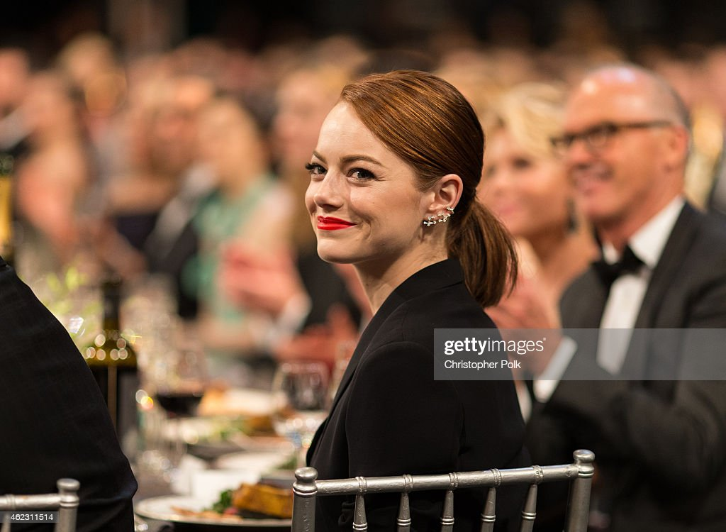Actress Emma Stone attends TNT's 21st Annual Screen Actors Guild Awards at The Shrine Auditorium on January 25, 2015 in Los Angeles, California. 25184_013