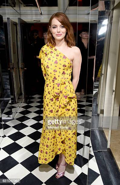 Actress Emma Stone attends W Magazine Celebrates the Best Performances Portfolio and the Golden Globes with Audi and Moet Chandon at Chateau Marmont...