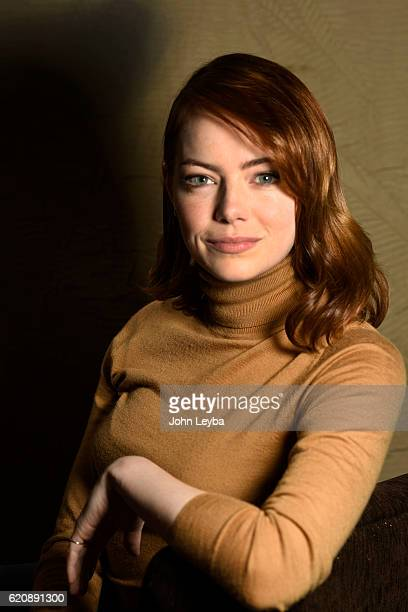 Actress Emma Stone in the film La La Land during a shoot before the Red carpet walk on opening night of the Denver Film Festival November 2 2016 as...